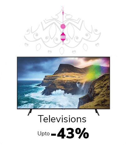 Get 43% off on televisions